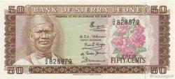 50 Cents SIERRA LEONE  1979 P.04c SPL