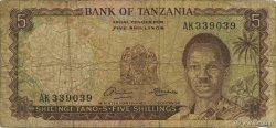 5 Shillings TANZANIE  1966 P.01a B+