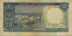20 Shillings TANZANIE  1966 P.02b TB