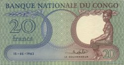 20 Francs CONGO  1962 P.04a SUP+
