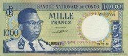 1000 Francs CONGO (RÉPUBLIQUE)  1962 P.008a TTB à SUP