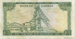 2 Kwacha ZAMBIE  1969 P.11c TTB