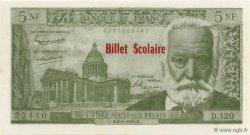 5 Nouveaux Francs Victor Hugo FRANCE régionalisme et divers  1964  NEUF