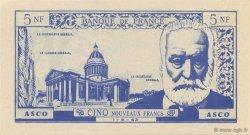 5 Nouveaux Francs Victor Hugo FRANCE régionalisme et divers  1963  pr.NEUF
