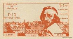 10 Nouveaux Francs Richelieu FRANCE régionalisme et divers  1963  pr.NEUF