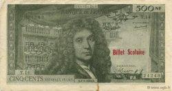 500 Nouveaux Francs Molière FRANCE régionalisme et divers  1964  TTB+
