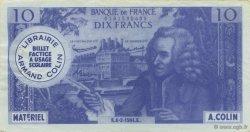 10 Francs Voltaire FRANCE régionalisme et divers  1964  TTB