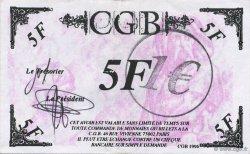 1 Euro sur 5 Francs Vercingétorix FRANCE régionalisme et divers  2001  SPL