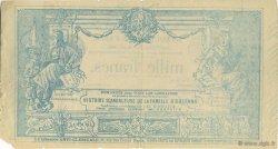 1000 Francs FRANCE régionalisme et divers  1883  TTB