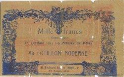1000 Francs FRANCE régionalisme et divers  1900  AB