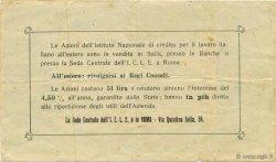 50 Lires ITALIE  1923  TTB