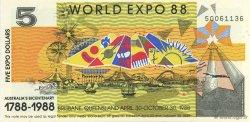 5 Dollars AUSTRALIE  1988  pr.NEUF