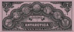 7 Dollars ANTARCTICA  1999  NEUF