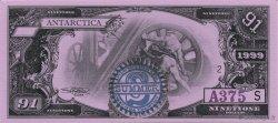 91 Dollars ANTARCTICA  1999  NEUF