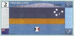 2 Dollars ANTARCTICA  1999  NEUF
