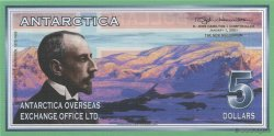 5 Dollars ANTARCTICA  2001  NEUF