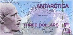 3 Dollars ANTARCTICA  2007  NEUF