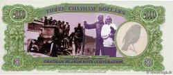 3 Dollars ILES CHATHAM  1999  NEUF