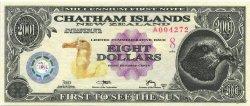 8 Dollars ILES CHATHAM  2001  NEUF