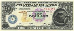 10 Dollars ILES CHATHAM  2001  NEUF