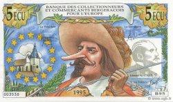 5 Ecu FRANCE régionalisme et divers  1995  pr.NEUF