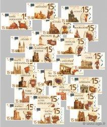 15 Euro Série complète FRANCE régionalisme et divers  2008  NEUF
