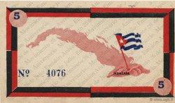 5 Pesos CUBA  1958  pr.NEUF