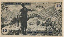 10 Pesos CUBA  1958  pr.NEUF