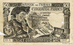 50 Francs FRANCE régionalisme et divers  1941  TB