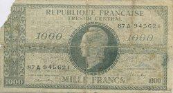 1000 Francs FRANCE régionalisme et divers  1946  TB