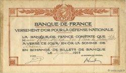 60 Francs FRANCE régionalisme et divers  1915  TTB+