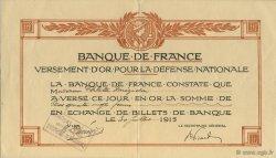 180 Francs FRANCE régionalisme et divers  1915  TTB+