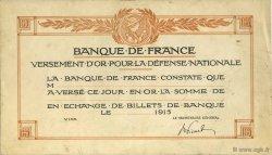 (1 Franc) FRANCE régionalisme et divers  1915  SUP+