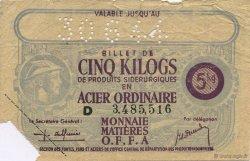 5 Kilos FRANCE régionalisme et divers  1940  TTB