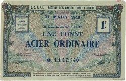 1 Tonne FRANCE régionalisme et divers  1940  SUP
