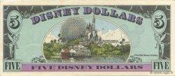 5 Disney dollars ÉTATS-UNIS D