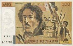 100 Francs Delacroix FRANCE régionalisme et divers  1991  NEUF