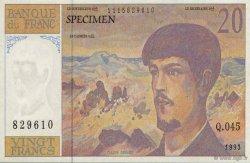20 Francs Debussy FRANCE régionalisme et divers  1993  SPL