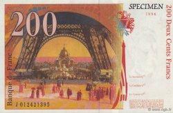 200 Francs Eiffel FRANCE régionalisme et divers  1996  NEUF