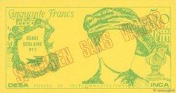 50 Francs Quentin De La Tour FRANCE régionalisme et divers  1976  NEUF