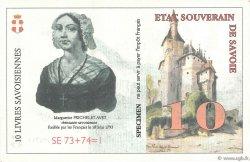 10 Livres Savoisiennes FRANCE régionalisme et divers  1998  NEUF