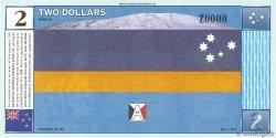 2 Dollars ANTARCTICA  1999 s NEUF
