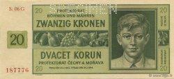 20 Korun BOHÊME ET MORAVIE  1944 P.09s NEUF