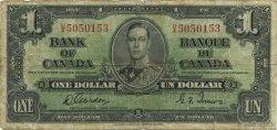1 Dollar CANADA  1937 P.058b TB