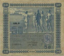 50 Markkaa FINLANDE  1939 P.072 TTB