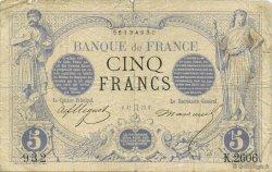 5 Francs NOIR FRANCE  1873 F.01.18 B+