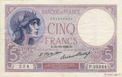 5 Francs VIOLET FRANCE  1926 F.03.10 TTB+