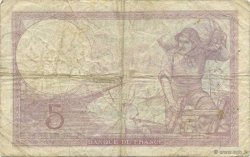 5 Francs VIOLET modifié FRANCE  1939 F.04.07 pr.TB