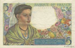5 Francs BERGER FRANCE  1943 F.05.02 SUP