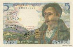 5 Francs BERGER FRANCE  1943 F.05.04 SPL+